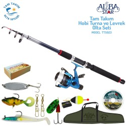 Albastar - Albastar Tam Takım Hobi Levrek ve Turna Olta Seti TTS023