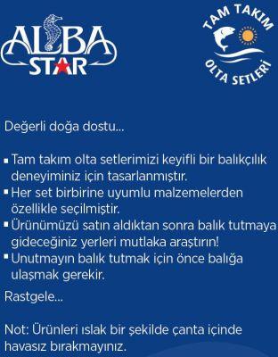 Albastar Tam Takım Profesyonel Tekne Olta Seti TTS003