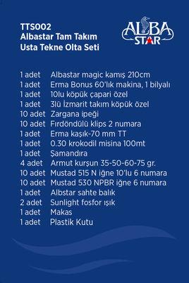 Albastar Tam Takım Usta Tekne Olta Seti TTS002