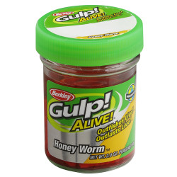 Berkley - Berkley Gulp Alive Honey Worm Sahte Kurt