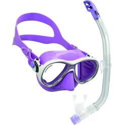 Cressi - Cressi Junior Marea Maske Top Şnorkel Seti