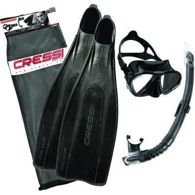 Cressi Pro Star Palet Maske Şnorkel Seti
