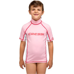 Cressi - Cressi Rash Guard Junior Girl Kısa Kollu T-Shirt