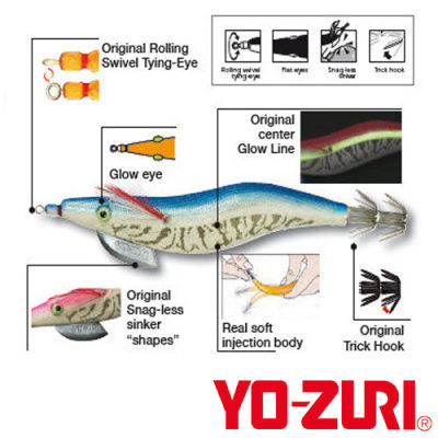 Yozuri Aurie-Q Real Kalamar Sahte Balığı